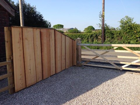 cladding-fence-at-Oakdene-Farm- New WTTS Cheshire Ltd headquarters and a new larch fence!